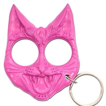 Wild Cat Self Defense Keychain Pink