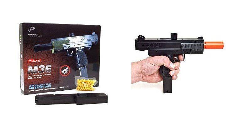 M36 UZI Spring Airsoft Pistol BB Hand Gun
