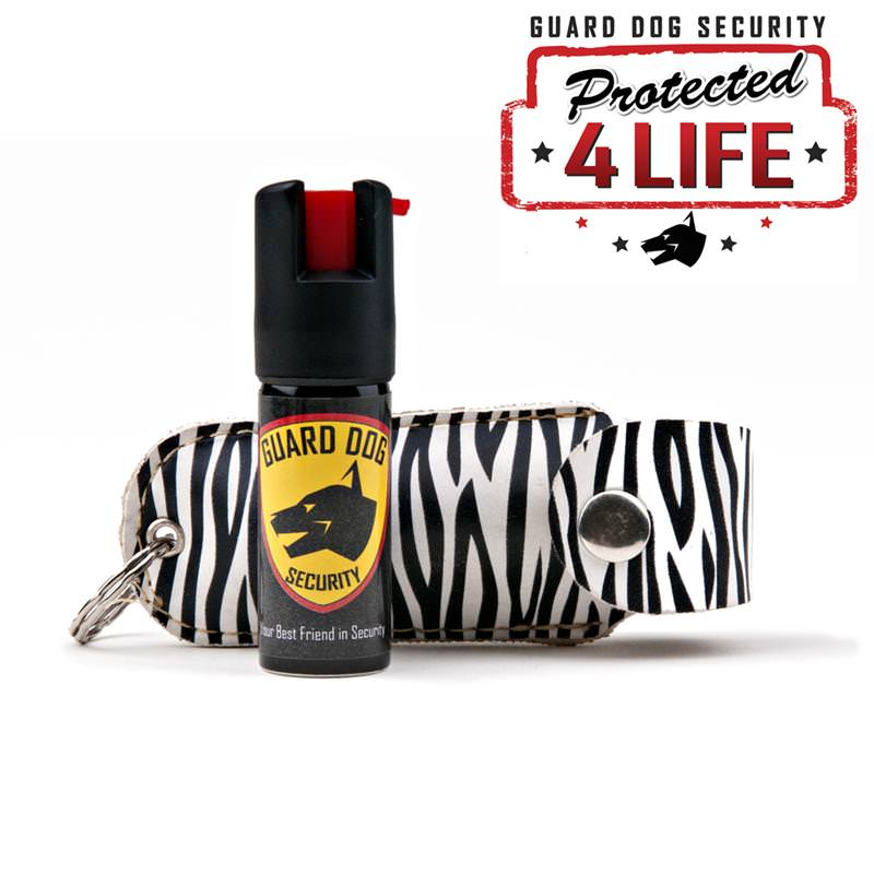 Zebra Personal Defense Pepper Spray OC-18 1/2 oz With LEATHER Case