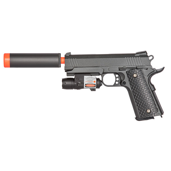 G25A K Warrior Metal AIRSOFT Spring Pistol With Red Dot Laser