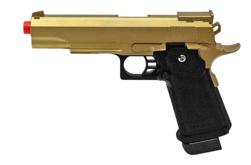 G6G Heavy Weight Metal Airsoft Hand GUN Pistol Gold Finish