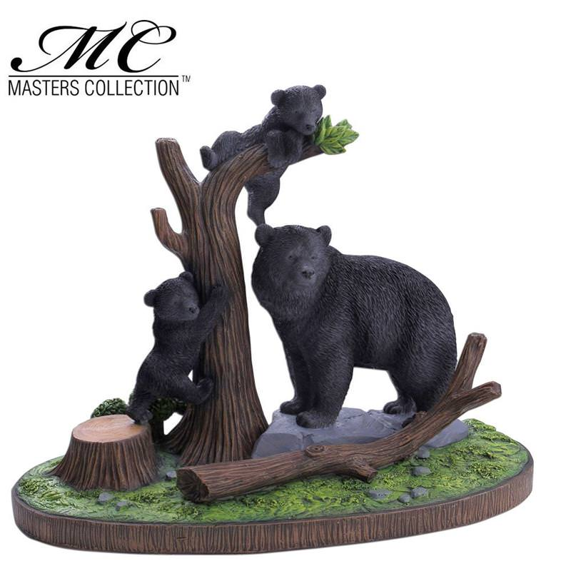 Bear Decorations For Home: Home Decor Resin Bear Display With Stand
