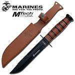 Offical US Marine Heavy Duty Combat Knife with Leather Sheath