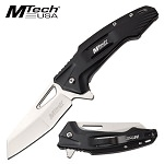 Everyday Carry Mtech Pocket Knife Spring Assisted Black Handle