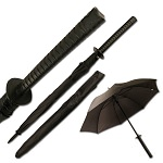 Mtech Outdoor Umbrella Black Katana Samurai Sword Handle