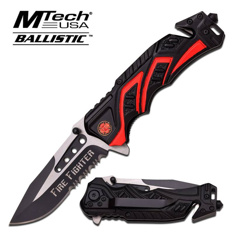mtech fire fighter spring assisted knife