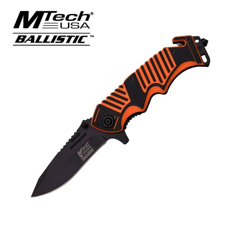 MTech Xtreme Spring Assisted Knife 5 Inches With Orange G10 Handle