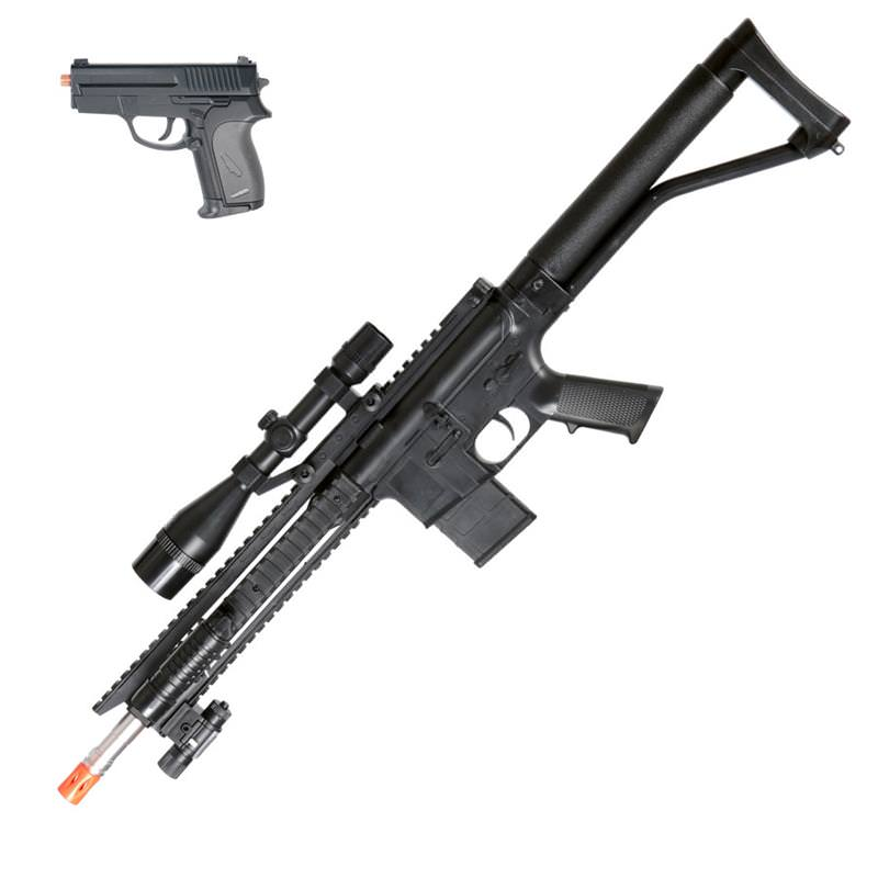 Spring P1137 Rifle Airsoft Pistol Combo
