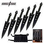 Perfect Point 6 Piece Throwing Knives Set In Clam shell Pack
