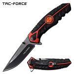 Tac Force Fire Department Pocket Knife Spring Assisted