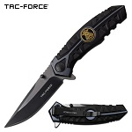 Tac Force Police Department Pocket Knife Spring Assisted