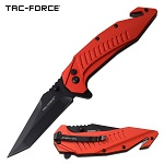 Tac Force Tactical Knife Tanto Blade Spring Assisted Red