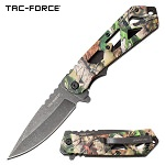 Tac Force Spring Assisted Spring Camo Pocket Knife