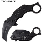 Pocket Knife Black Karambit Hawk Bill Blade Spring Assisted Knife