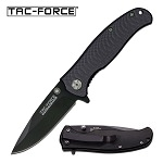 All Black Spring Assist Knife with G-10 Handle