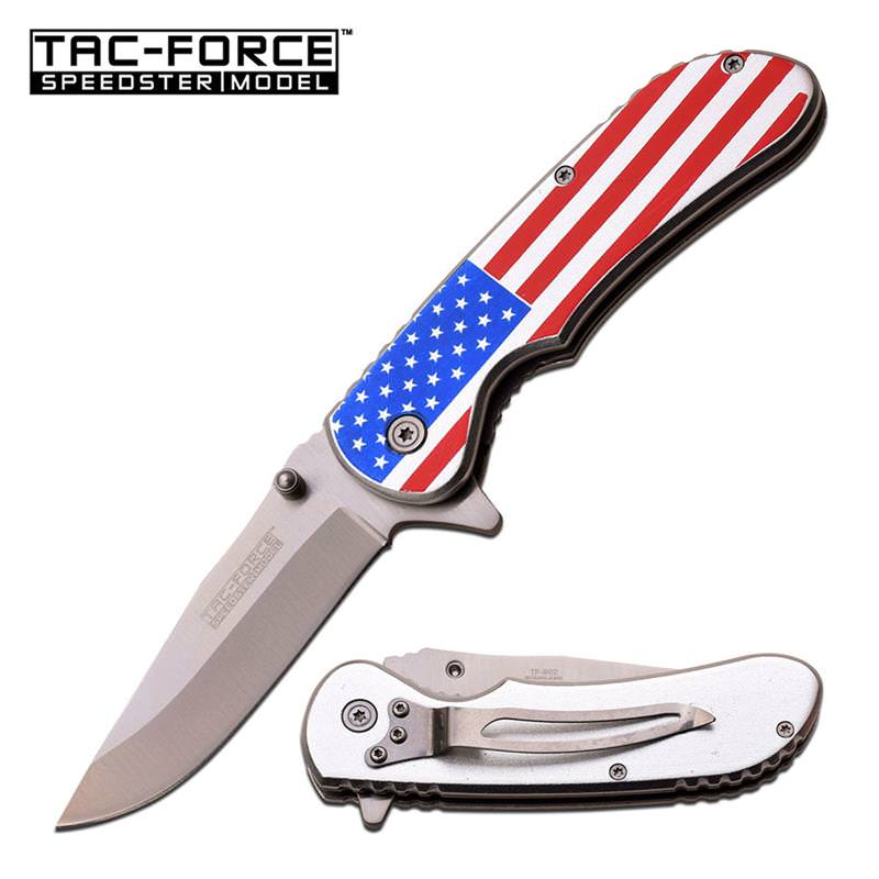 Tac-Force American Flag Spring Assisted Knife
