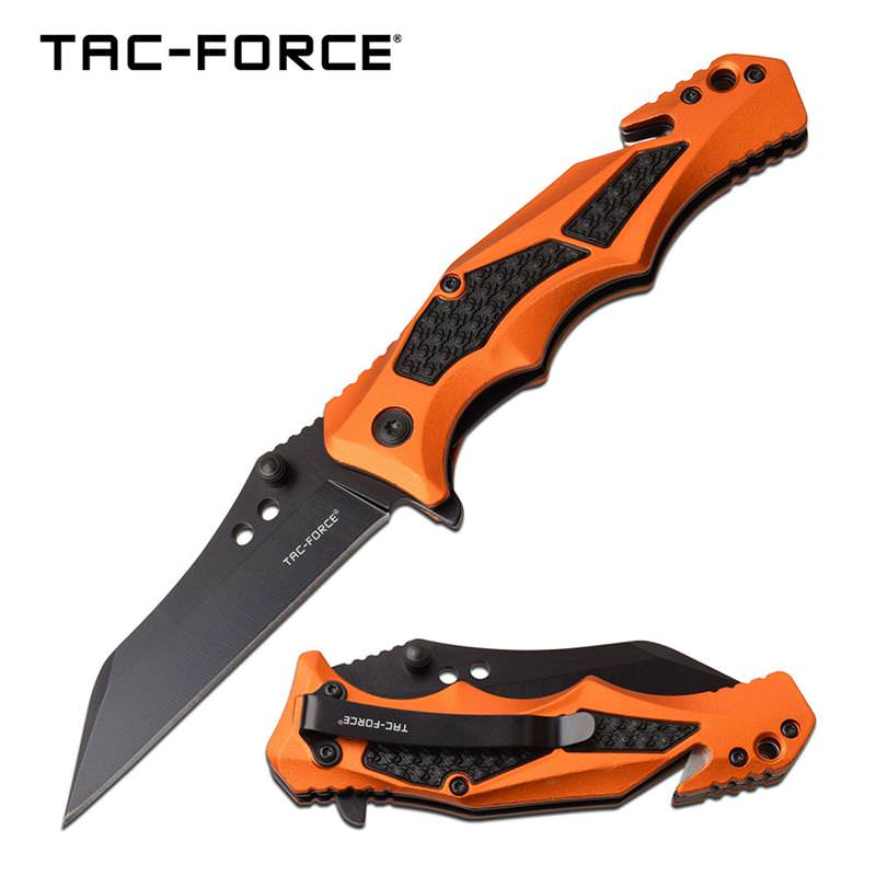 Orange handle Spring Assisted Folding Pocket Knife Tactical Blade