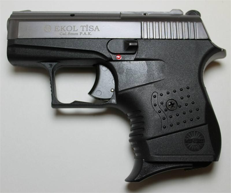 Tisa Compact Blank Firing 8MM Gun Fume Finish Starter Pistol
