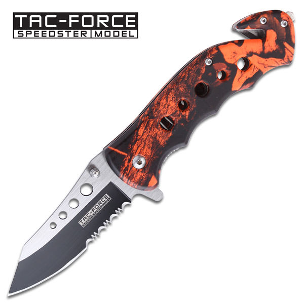 Spring Assist - 'Legal AUTOMATIC' KNIFE - Red Camo Handle