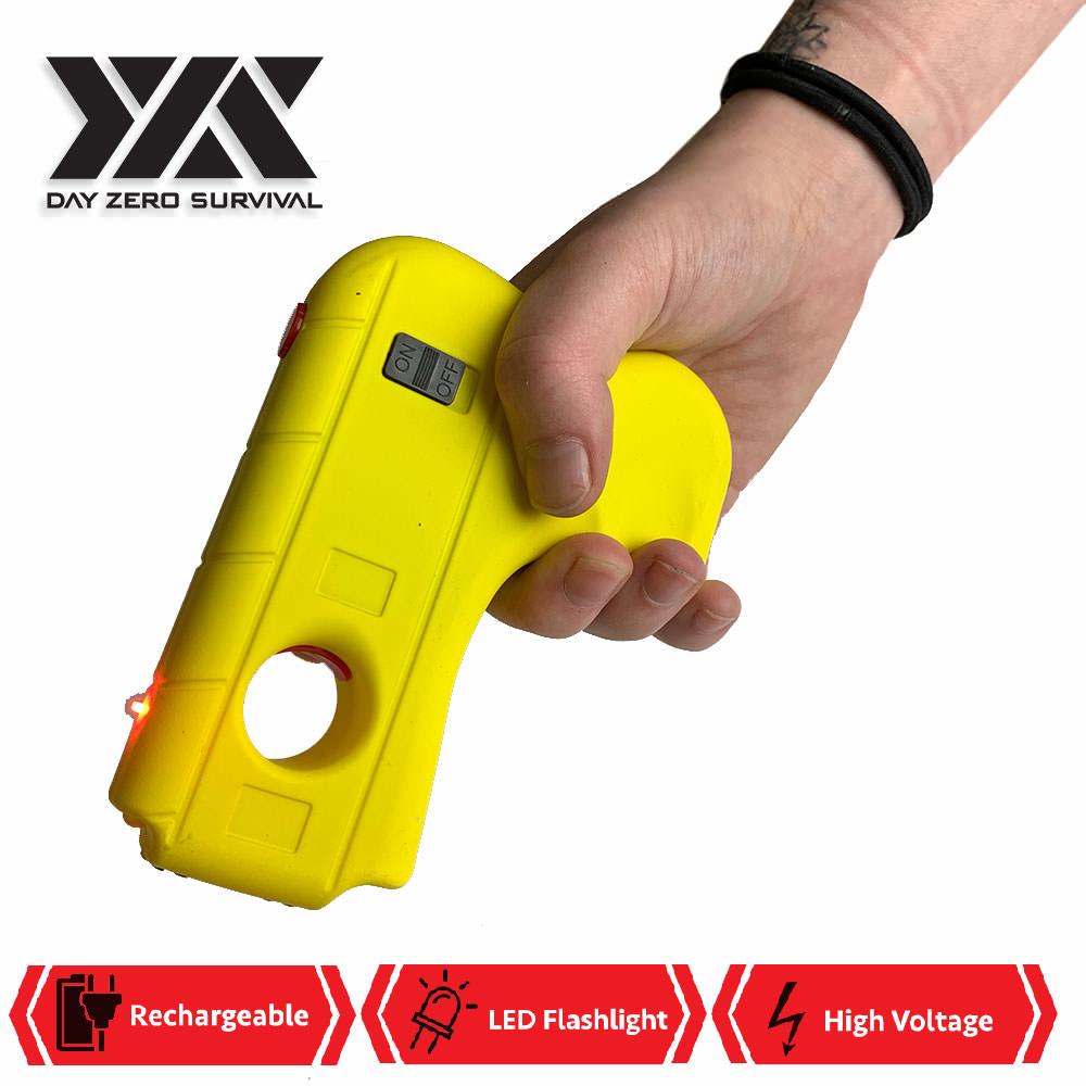 DZS Yellow Hand Pistol Stun Gun LED