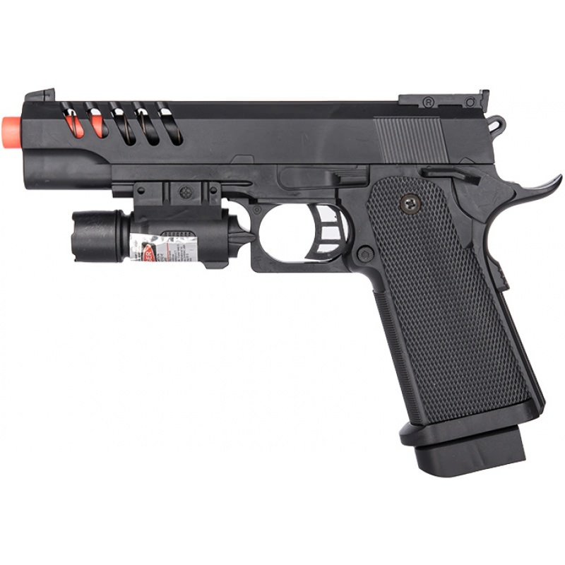 P2004B Spring Powered Skeletonized Airsoft Pistol