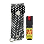 Bling Keychain Personal Defense Pepper Spray OC-18 1/2 oz With Case Black
