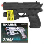 216AF Spring Airsoft Hand Gun With Laser & LED Light