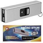Micro USB Self Defense Silver Stun Gun Rec hargeable LED Light Keychain