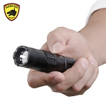 ElectroLite Compact Tactical Stun Gun Flashlight with Belt Clip, 140 Lumen Light