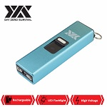 DZS Rechargeable Micro USB Self Defense Blue Stun Gun With LED Light