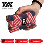 DZS 10 Million Volt Self Defense American Flag Print Stun Gun Rechargeable