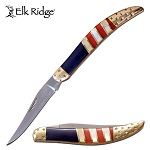 Elk Ridge Manual Pocket Knife Toothpick Knife American Flag