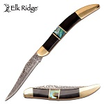 Elk Ridge Manual Pocket Knife Toothpick Knife Abalone Shell