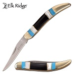 Manual Folding Toothpick Blade Knife Mother of Pearl Handle