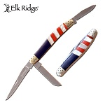 Elk Ridge Manual Pocket Knife Stockman Knife American Flag
