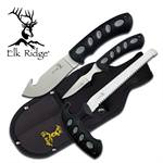 3 Pcs Elk Ridge Hunting Knife Set with Sheath