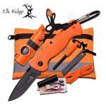 Elk Ridge Outdoor Adventure Survival Camping and Hunting Kit with Orange Knife