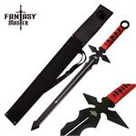 Fantasy Master 26 Inch Full Tang Sword Red Wrapped Handle