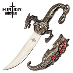 Fantasy Dragon Letter Opener Knife Red Dragon Scabbard
