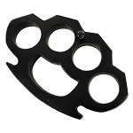 Black Steel Knuckleduster Belt Buckle Paper Weight Accessory