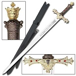 King Arthur's Excalibur Sword Gold Medieval Knight Replica
