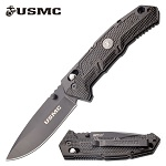 USMC Marines Manual Folding Knife Black