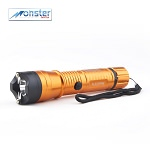 Monster Orange FlashFire Dual-Spark Stun Gun Flashlight, 16 Million Volts, Rechargeable