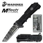 Mtech US Marines Black Tactical Spring Assisted Folding Knife - Urban Camo Blade