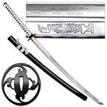 Masahiro Hand Forged Samurai Sword - White