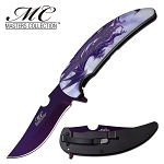 GOT Dragon Spring Assisted Opening Pocket Knife Purple Blade