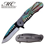 Pocket Knife Green Dragon Throne Assisted Opening Knife