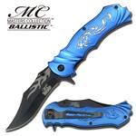 Blue Fantasy Dragon Assisted Opening Pocket Knife