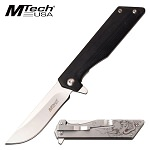 Mtech 7 Inch Manual Folding Pocket Knife Devil Handle