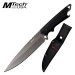 Mtech 6.25'' Full Tang Stonewash Spear Point Blade With Nylon Sheath
